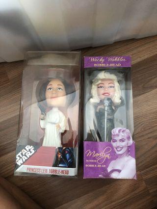 🚚 Bobble Head - Princess Leia / Marilyn Monroe