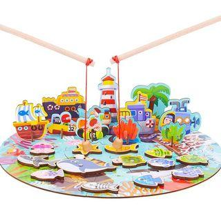 🚚 Magnetic Fishing Game with 3D Scenery (Ocean design)