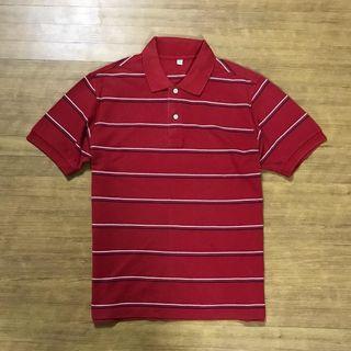 UNIQLO Stripe Poloshirt Kode : #KK051 ••Size L