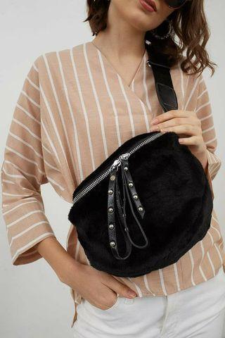 Berrybenka Gabby Octarina Stylish Sling Black Bag ORIGINAL