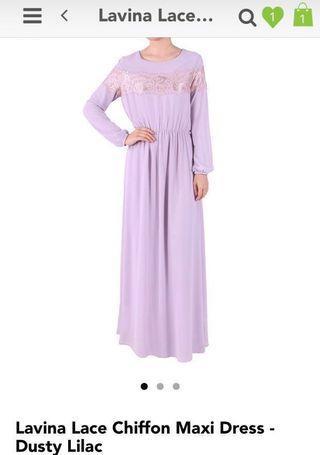 Poplook Lavina Chiffon Maxi L Size Dress