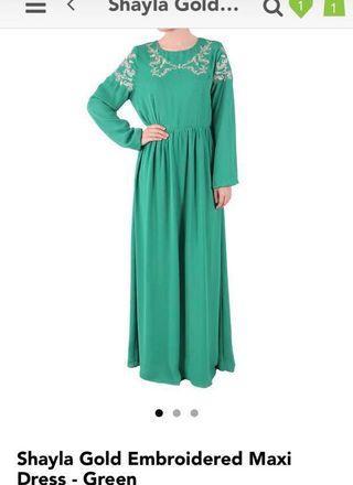 Poplook Green Dress