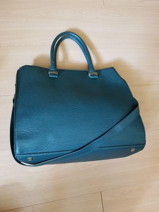 🚚 Green Leather Document bag
