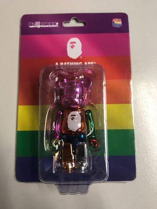 Bearbrick bape bathing ape 25 Rainbow 100% New medicom toys play Kaws 400 200 1000