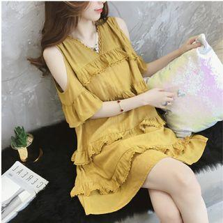 Brand New Yellow Dress, Fit for M or L, HK$79.99