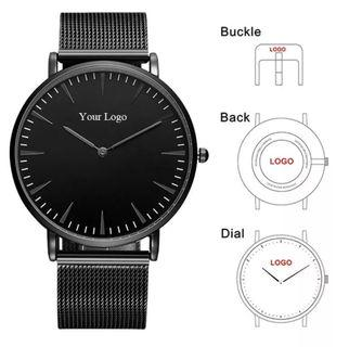 Custom Print and Engrave Front, Back, Strap Minimalist Watch