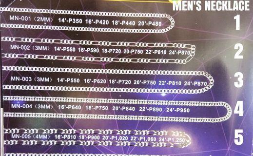 SILVER 925 MEN'S NECKLACES