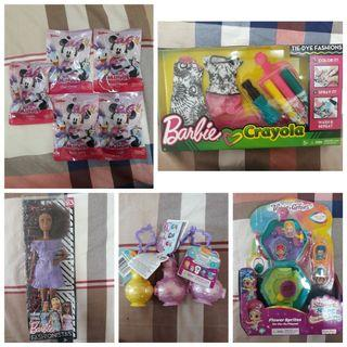 (ALL RM130) Barbie Doll, Minnie Mouse Collectibles