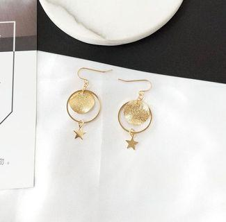 Star Disc Earrings