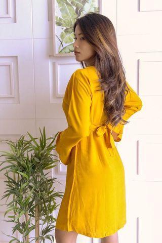 VERONA DRESS - Mustard