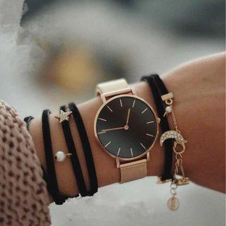 Women's Stainless Steel Strap Quartz Wrist Watch