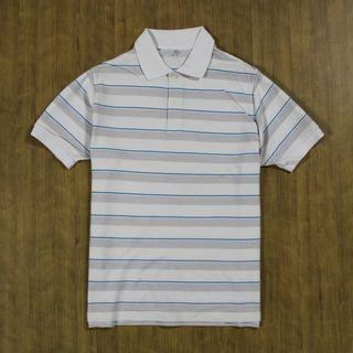 UNIQLO Stripe Poloshirt Kode : #KK066 ••Size XL fit L