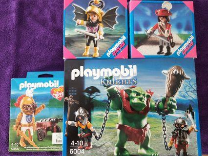 🚚 Playmobil 6004, 5056, 4696 & 4627 Knights Sets