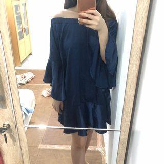 Dress Baru Navy Sabrina