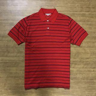 UNIQLO Stripe Poloshirt Kode : #KK068 ••Size L