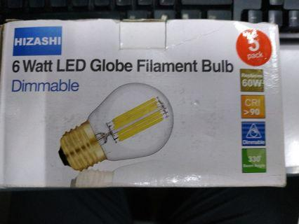 Hizashi 6watt led globe filament bulb e27 pack of 5 #EndgameYourExcess