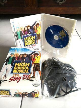 High school musical Sing it nintendo wii full box mic