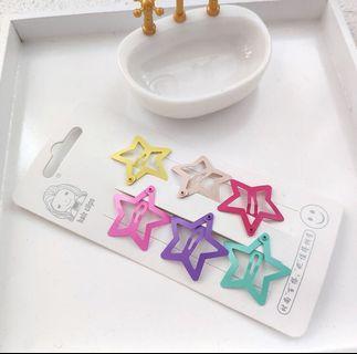 Star hair clips