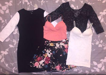NEW SIZE SMALL CLOTHING LOT