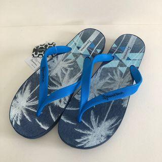 🚚 Man's Ipanema 巴西尺寸37/38,39,40,41,42,43/44(巴西椰林印花 人字夾腳拖鞋-藍色)