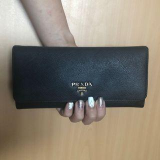 Authentic Classic Prada Long Wallet