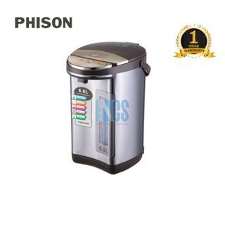 Phison Stainless Steel Electric Thermo Pot Thermopot - 6 Liters (PTP-1602)