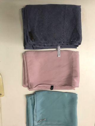 Plain shawls ( tudunng ruffle , alhumaira,tracyn )