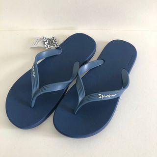 Man's Ipanema 巴西尺寸37/38,39,40,41,42(巴西經典純色質感 夾腳人字拖鞋-藍色)