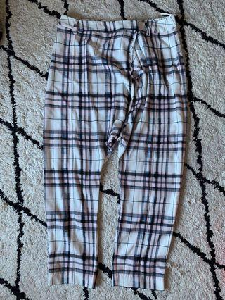 Tartan drop crotch pants size S