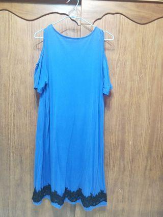 🚚 寵愛媽媽藍色長裙