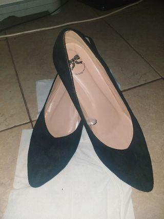 Heels black Velvet