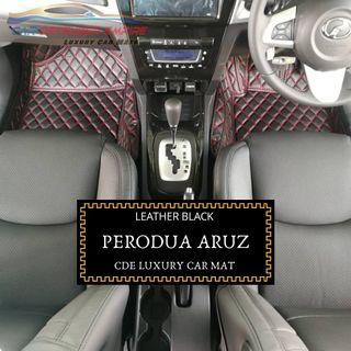 Customised luxury car mat Perodua Aruz