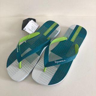 Man's Ipanema 巴西尺寸37/38,39/40,41/42(巴西時尚線條印花 人字夾腳拖鞋-綠色)