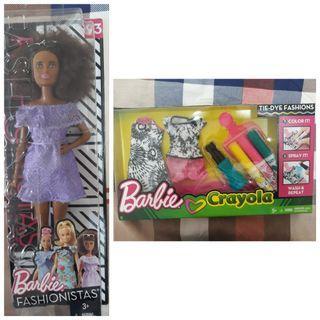 (FREE POS) Barbie Fashionistas Crayola Outfit Set