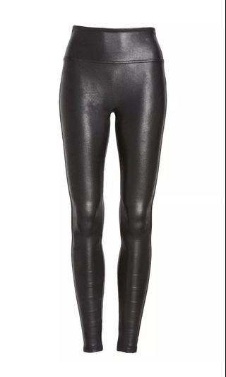32a10a47f9 SPANX PETITE leather looking leggings