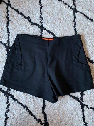 Black tailored shorts size 10-