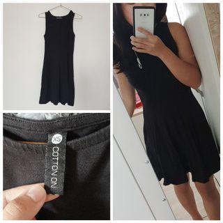 🚚 澳洲購入 Cotton On 短版連身洋裝 黑色合身顯瘦 XS