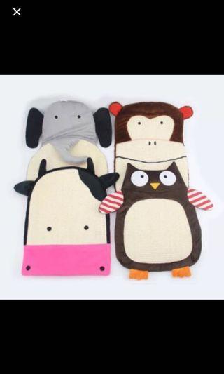 可愛動物照行劍麻材質抓板.睡墊兼玩耍墊