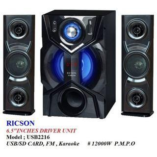 Ricson Multimedia Speaker Subwoofer Set - USB/SD Card/FM/Karaoke (USB2216)