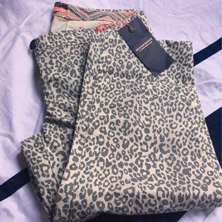 Maison Scotch leopard print chinos