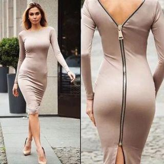 Sexy zipper Dress(in stock)