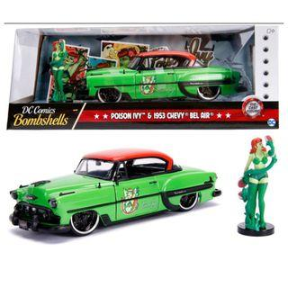 DC Comics Bombshells - Poison Ivy & 1953 Chevy Bel Air
