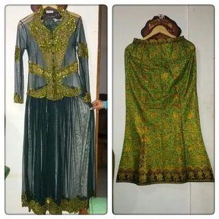Set Green Kebaya Brokat