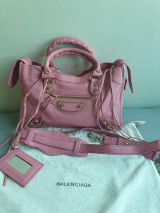 Authentic Balenciaga City Small Metallic Edge bag