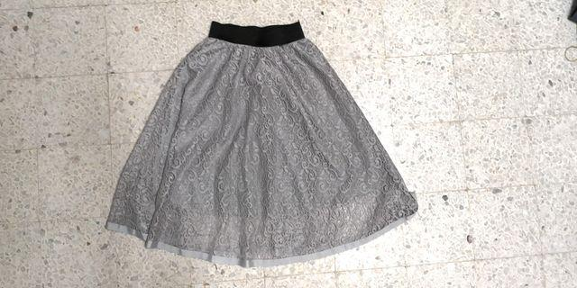 Lace Grey Skirt