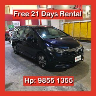 Honda Shuttle Hybrid Grab Car Go Jek Rental