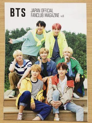 [RARE] BTS Official Japan FC Fanclub Magazine Vol. 6