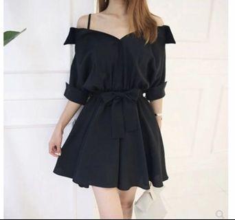 BN Black Off Shoulder Short Dress