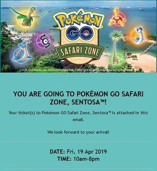 Pokémon GO Safari Zone at Sentosa Singapore