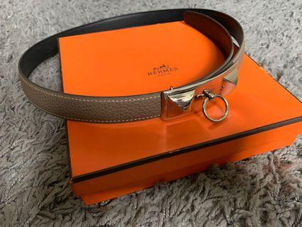 Hermes Women's reversible women's belt (Sydney Palladium buckle)